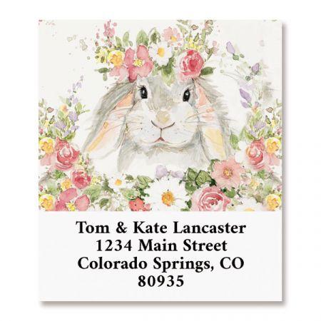 Flower Bunny Select Return Address Labels