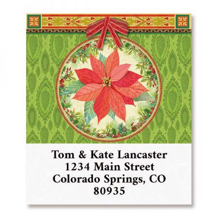 Poinsettia Scrapbook Select Return Address Labels