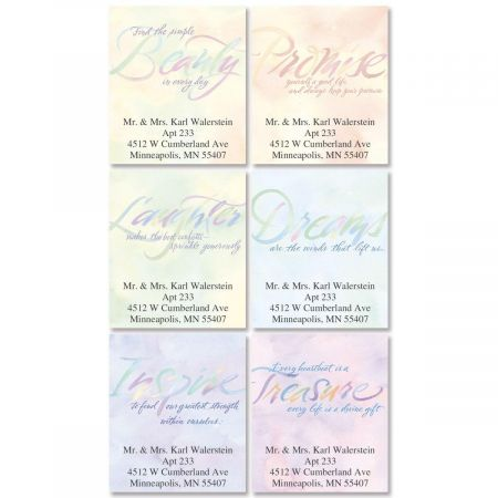 Watercolor Thoughts  Bookplates  (6 Designs)