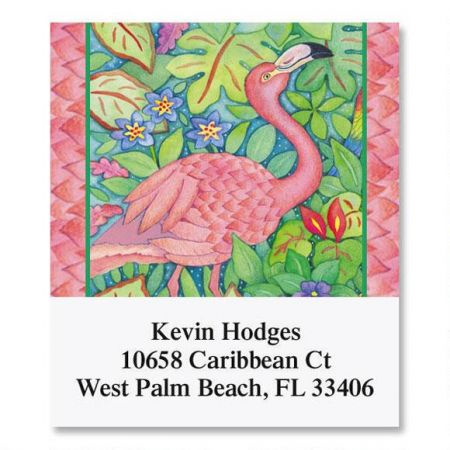 Pink Flamingo Select Return Address Labels
