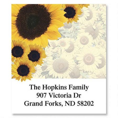 Sunflowers Galore  Select Return Address Labels