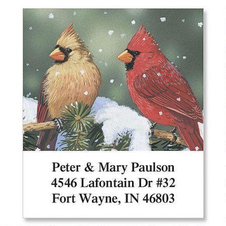Cardinals Holiday Select Return Address Labels