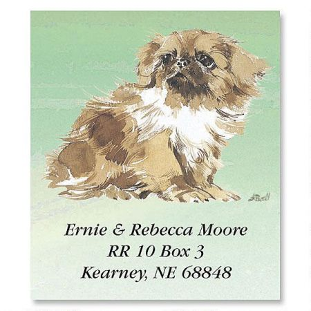 Pekingese Puppies Select Return Address Labels