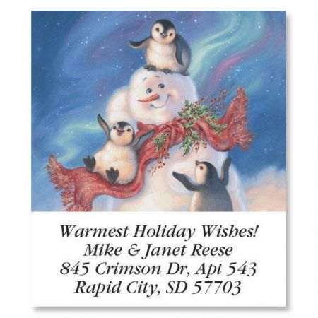 Snow Buddies  Holiday Select Return Address Labels