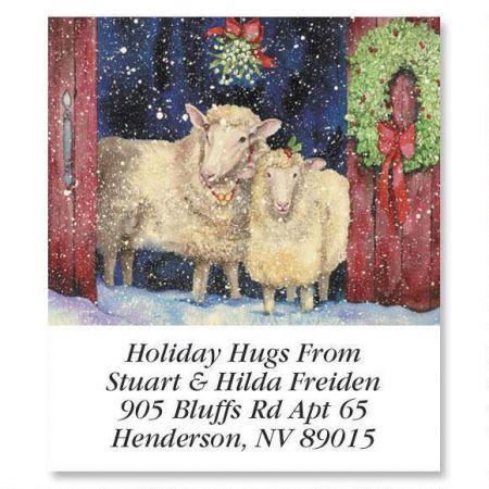 Under the Mistletoe Holiday Select Return Address Labels