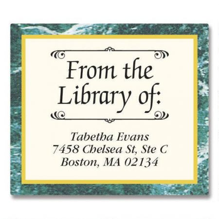Green Marble Bookplates