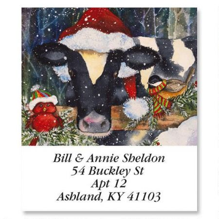 Christmas Cow.Christmas Cow Select Return Address Labels