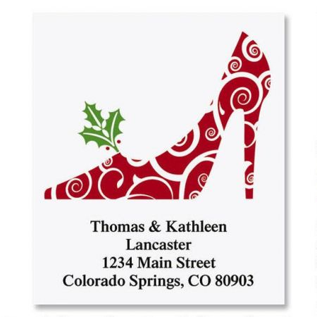 Holiday Heels Select Return Address Labels