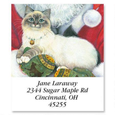 Santa Cat Select Return Address Labels