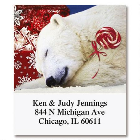 Polar Bear Christmas Select Return Address Labels