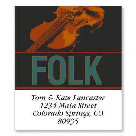 Folk Select Return Address Labels