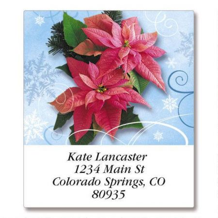 Royal Poinsettia  Select Return Address Labels