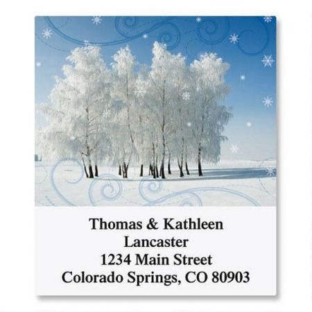 Cold Winter Day Select Return Address Labels