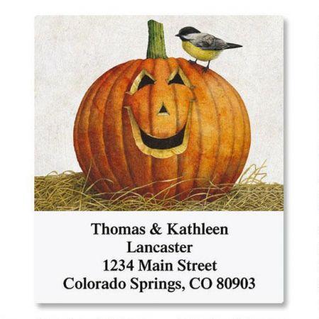 Pumpkin Select Return Address Labels