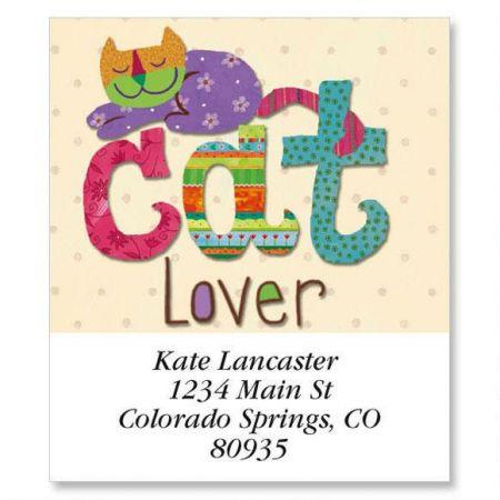 Cat Lover Select Return Address Labels