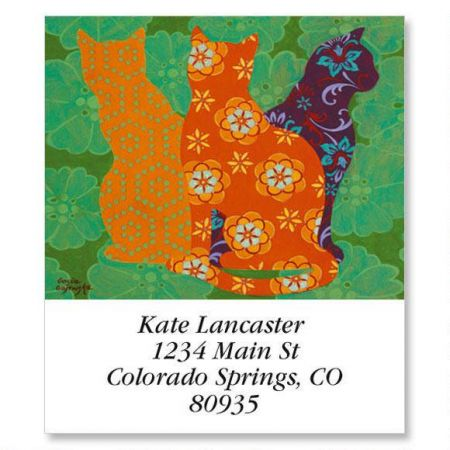 Cat In Patterns Select Address Labels