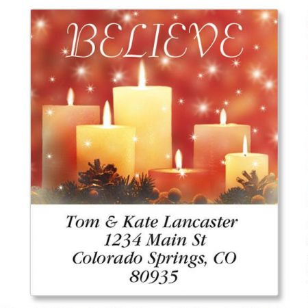 Candlelight Glimmer Select Return Address Labels