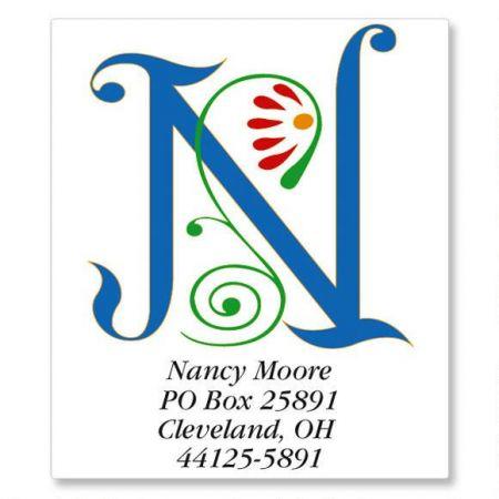 Spring Monogram Select Return Address Labels