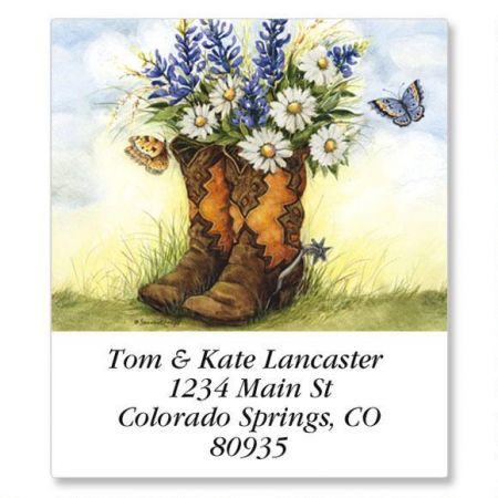 Country Boots Select Return Address Labels