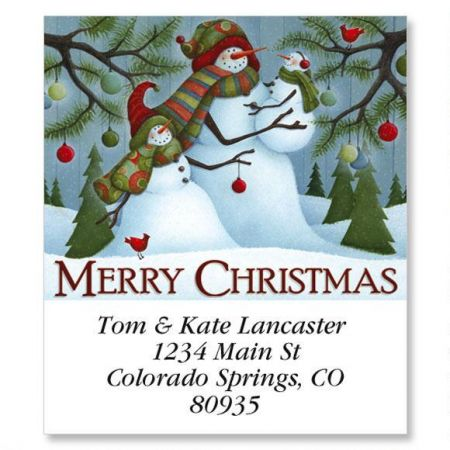 Merry Christmas Family Select Return Address Labels