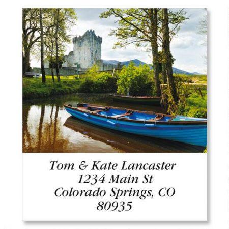 Boat at Ross Castle Select Return Address Labels