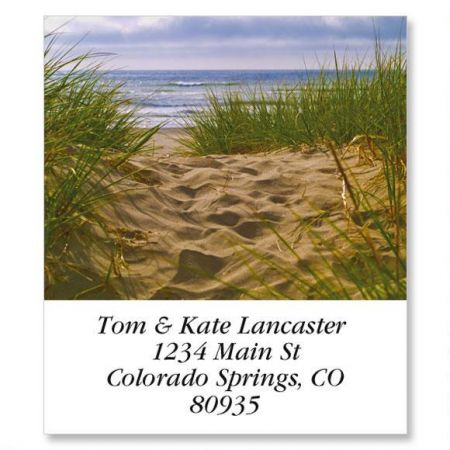 Beach Path Select Return Address Labels