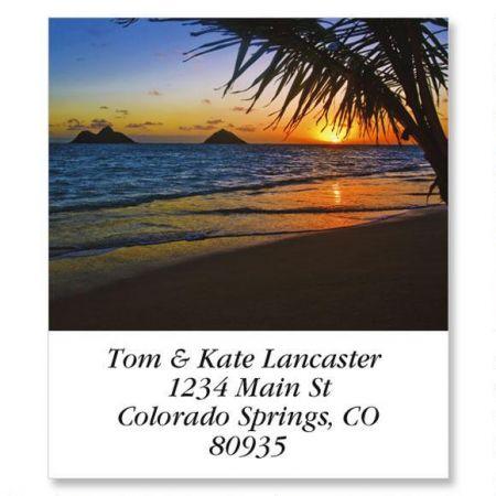 Lanikai Beach Select Return Address Labels