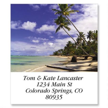 Caribbean Beach Select Address Labels