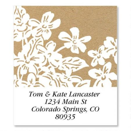 Kraft Flowers  Select Address Labels