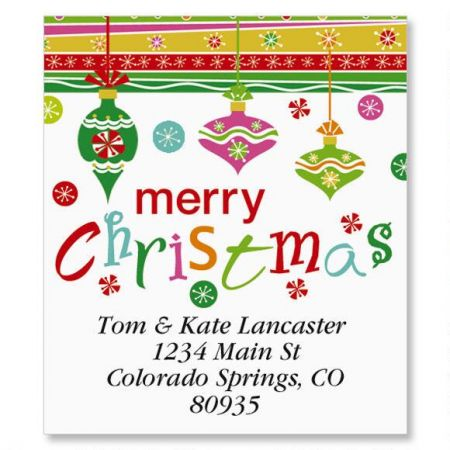Merry Christmas Select Return Address Labels