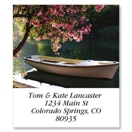 Peaceful Rowboat Select Return Address Labels