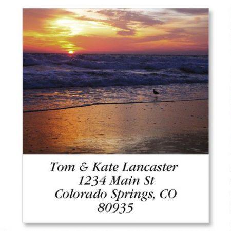 Sunrise On The Shore Select Return Address Labels