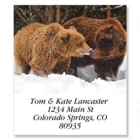 Two Bears Select Return Address Labels