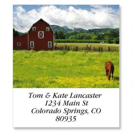 Red Horse Barn Select Return Address Labels