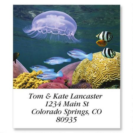 Jelly Fish Select Return Address Labels