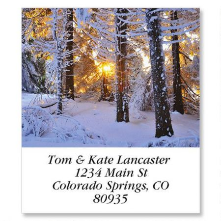 Snow Covered Conifer Select Address Labels