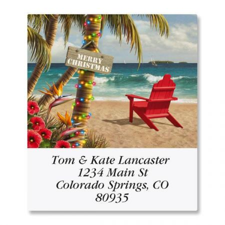 Christmas Paradise Select Return Address Labels