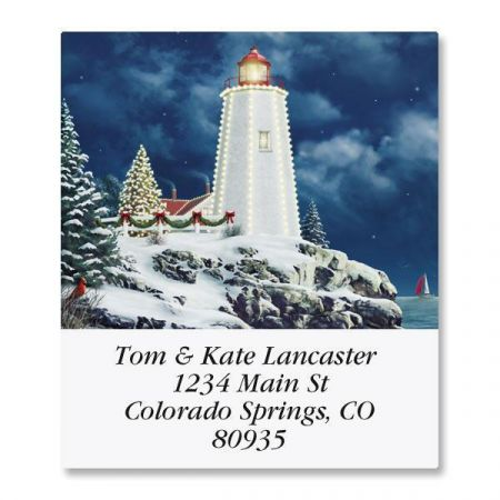 Christmas Light  Select Return Address Labels