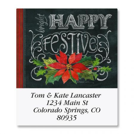 Merry, Jolly, Festive Select Return Address Labels