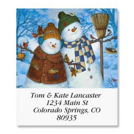 Family Christmas Select Return Address Labels