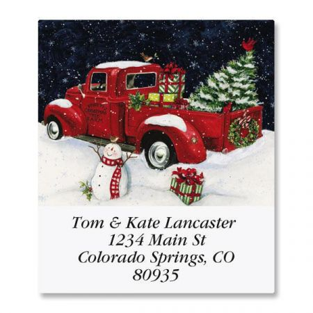 Truck Night Select Return Address Labels
