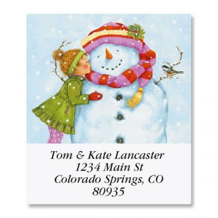If Kisses Were Snowflakes Select Return Address Labels