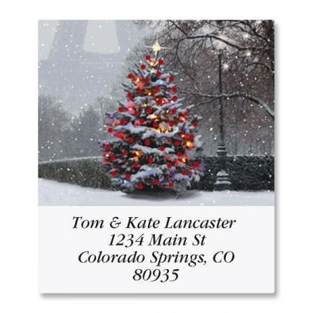 Paris in the Snow Select Return Address Labels