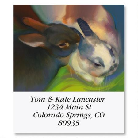 Snuggle Bunnies Select Return Address Labels