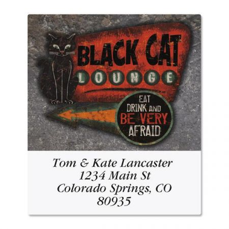 Black Cat Lounge Select Return Address Labels