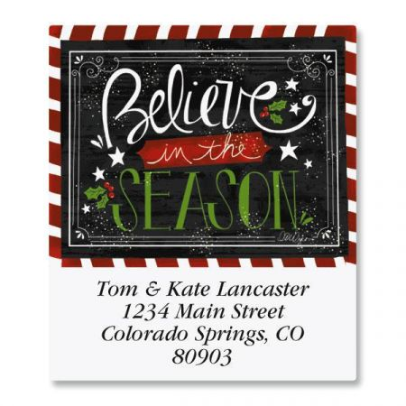 Believe In The Season Select Return Address Labels