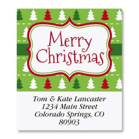 Holiday Frame Select Return Address Labels