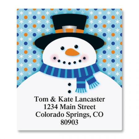 Festive Snowman Select Return Address Labels