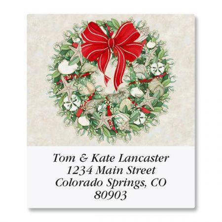 Coastal Wreath Select Return Address Labels