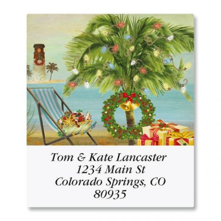 Holiday Palm Select Address Labels